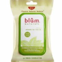 Blûm Naturals Daily Cleansing and Makeup Remover Face Towelettes