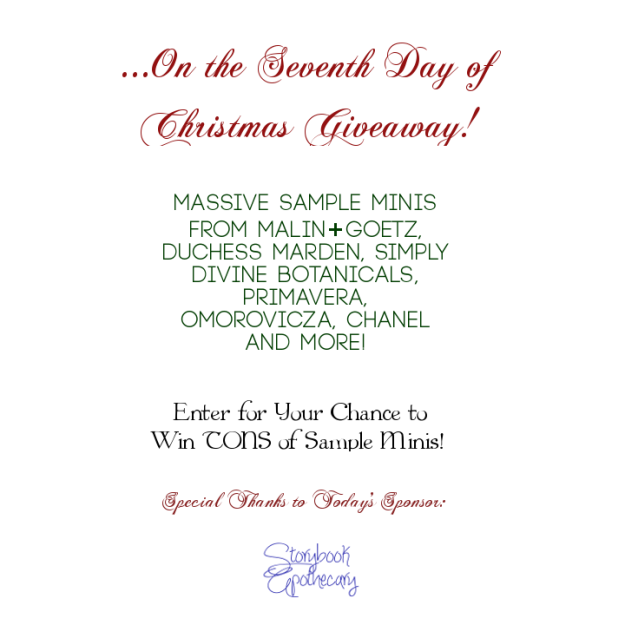 Seventh Day of Christmas Giveaway - 12 Days of Xmas Giveaways 2012 - StorybookApothecary.Com