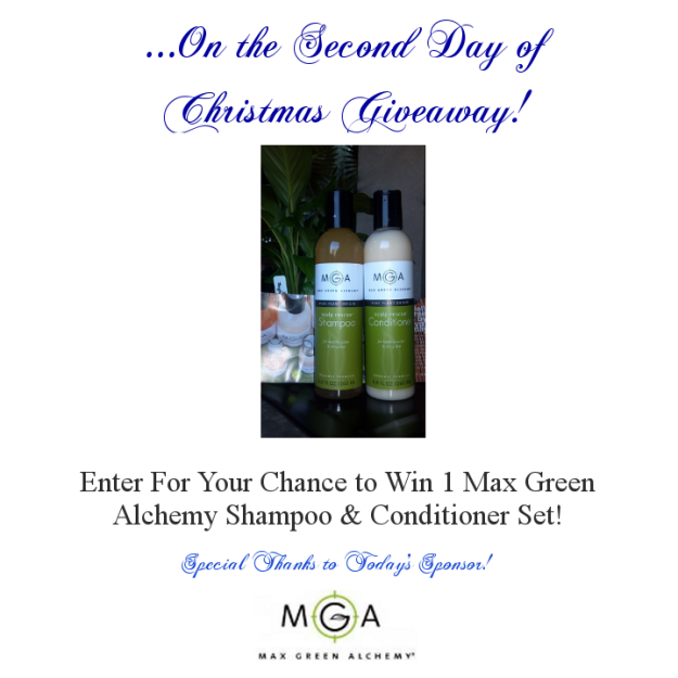 Second Day of Christmas - Max Green Alchemy Christmas Giveaway - StorybookApothecary.com
